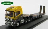 BNIB N GAUGE OXFORD 1:148 NVOL4009 Volvo FH4 Lorry Low Loader G F Job Flat Bed