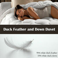 All Season Luxury 10.5 Tog Duck / Goose Feather Quilts / Duvets and Pillow Pair