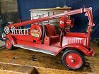 JC51 Keystone Pressed Steel Toy Water Pump Tower Fire Truck Buddy L Steelcraft