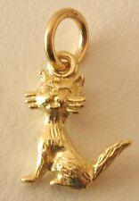 GENUINE SOLID  9K  9ct  Yellow  Gold  3D  CAT ANIMAL  CHARM/PENDANT