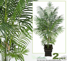 TWO 8' Tropical Areca Palm Artificial Trees Plants 071