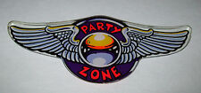 BALLY PARTY ZONE ORIGINAL MINT NOS PINBALL MACHINE PLASTIC PROMO KEYCHAIN WINGS