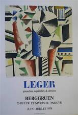 Fernand LEGER Affiche en Lithographie art abstrait abstraction cubisme Berggruen