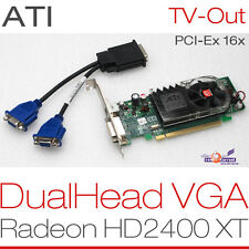 256 MB ATI RADEON hd2400 XT PCIe DualHead 2x VGA Scheda Grafica WINDOWS XP 7 8 g13