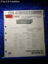 Sony Service Manual CDX 4100RDS /5100RDS CD Player (#4223)
