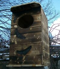 BARN OWL HOUSE. SPOTTED OWL NESTING BOX. 1 UNIT=BY.M Holley/MADE BY U.S.A. VET'S