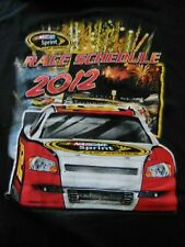 Nascar Sprint Series 2012 Race Schedule XL T-Shirt/ Graphics Front and Back