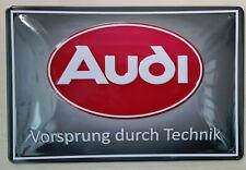 Audi Blechschild, Audi Vorsprung durch Technik, 20x 30cm