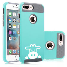 For Apple iPhone SE 5 5c 5s 6 6s 7 Plus Shockproof Hard Case Cover Peeking Cow