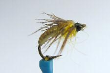 1 x Mouche peche NYMPHE SEDGE DORE H10/12/14/16 fly fishing fliegen mosca