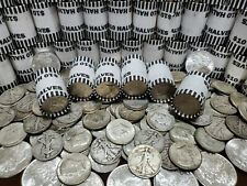 90% SILVER BEN FRANKLIN COIN + $10 UNSEARCHED HALF DOLLAR BANK WRAPPED COIN ROLL