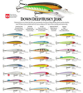 Rapala Down Deep Husky Jerk // DHJ10 // 10cm 11g Fish Lures (Choice of Colors)
