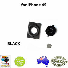 for iPhone 4S - Home Button With Rubber Pad - BLACK -  FAST FREE SHIPPING