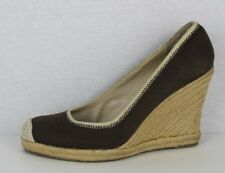 Banana Republic women's wedge high shoes slip on brown upper textile size 9