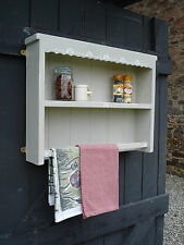 Towel rail / shelf unit, wall mounted, Shabby Chic, Hand made,decorated