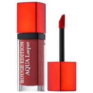 Bourjois Rouge Edition Aqua Laque Lipstick Feeling Reddy - For Girls Lips Beauty