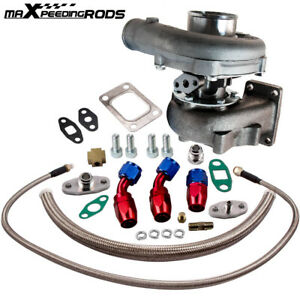 T04E T3/T4 A/R.63 400+HP External wastegate STAGE III Turbocharger+Oil line kit