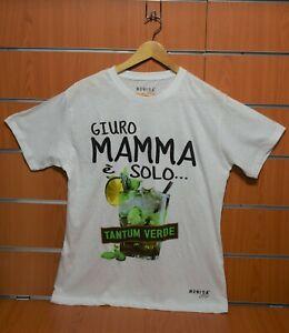 """Maglietta T-Shirt """"Giuro Mamma è Solo Tantum Verde"""" Tg.XL Movida 87 Originale"""