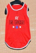 Hotel Doggy - 'Lil Fire Cracker! Red Tank/Shirt (Pet, Dog) Large