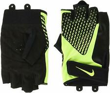 Nike Mens Core Lock Training Gloves 2.0 XL Adults Padded Suede Palm Black/Volt