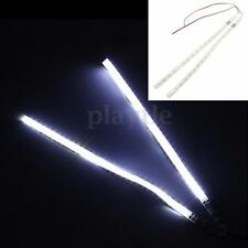 2x White 30CM 3528 SMD 32 LED Knight Rider Flash Strobe Scanner Neon Strip Light