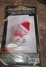 CHRISTMAS CAT GREETINGS Design Works Jewel Felt Greetings Card Ornament Kit