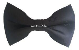 MASONIC REGALIA- Masonic Black Square & Compass Bow Tie Masons Gift Brand New