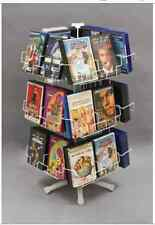Counter Dvd Spinner Display Rack - 3 Tier 24 Pocket 8 per Tier (White)