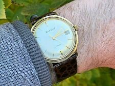Vintage 9ct Gold Bueche Girod Calibre 65 Swiss Automatic Gents Watch