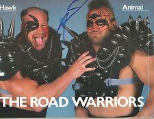 Eb1072 Road Warrior Animal signed Wrestling Magazine Coa *Bonus*