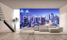 Dubai Night Scene Wall Mural Photo Wallpaper GIANT DECOR Paper Poster Free Paste