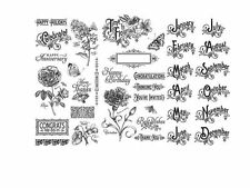 "GRAPHIC 45 ""TIME TO FLOURISH"" CLING STAMP SETS  1, 2 & 3   SCRAPJACK'S PLACE"