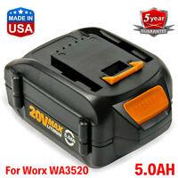 5AH WA3525 WA3520 WA3575 WA3578 MAX Li-ion Battery for WORX WG163 WG151s WG155s