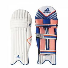 Adidas Club Batting Pad Mens Rh Cricket Gear White Blue Orange Adult A97747