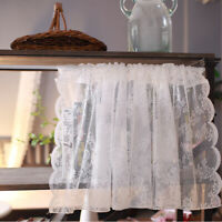 Embroidery Home Kitchen Cafe Curtain Sheer Voile Tulle Lace ValanceDrape Panel