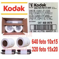 Kodak photo print Kit per stampante 305 / 6R Kiosk 640 foto .