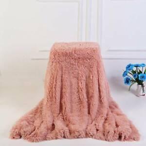 Winter Soft Thicken Fleece Throws Blanket Bedding Crystal Velvet Blankets Warmer
