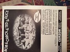 m12m ephemera 1970 film advert bob & carol & ted & alice