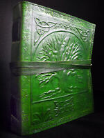 Celtic Pagan WiccaTREE of LIFE A5 Handmade Leather Journal Diary Book-of-Shadows