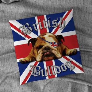 """British Bulldog Union Jack Design 18"""" x 18"""" Cushion"""
