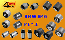 MEYLE BMW 3 E46 REAR AXLE TRAILING SUBFRAME ARM BUSHES BUSHING  KIT COMPLETE SET