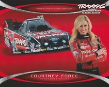 2014 Courtney Force Traxxas Ford Mustang Funny Car NHRA postcard