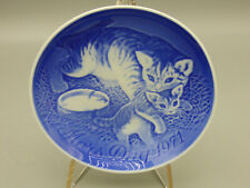B&G Bing & Grondahl Mother's Day 1971 Collector Plate Cat with Kittens Denmark