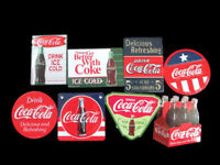 Coca-Cola Refrigerator Tin Metal Magnet Reproduction Vintage Sign  - BRAND NEW