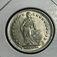 1945 SWITZERLAND SILVER ONE FRANC HIGH GRADE COIN