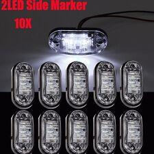 10x White LED Side Marker Light Car Truck Trailer Boat Lorry Van Pickup 12V 24V