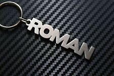 ROMAN Personalised Name Keyring Keychain Key Fob Bespoke Stainless Steel Gift