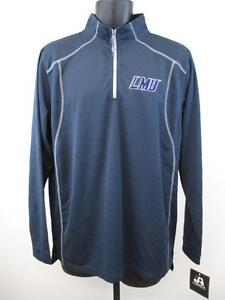 New Loyola Marymount Lions LMU Adult Mens Size Medium M Blue 1/2 Zip Jacket