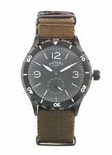 Rotary Gs03074 Men's Utilitarian Stainless Steel Military Style Watch