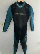 O'NEILLMen's Full Body Wet Suit Scuba Dive Black & Teal Neoprene Size Small